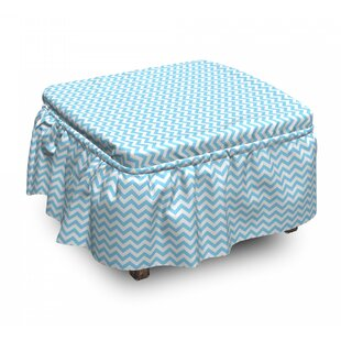 Striped Tile Ottoman Slipcover (Set Of 2) By East Urban Home