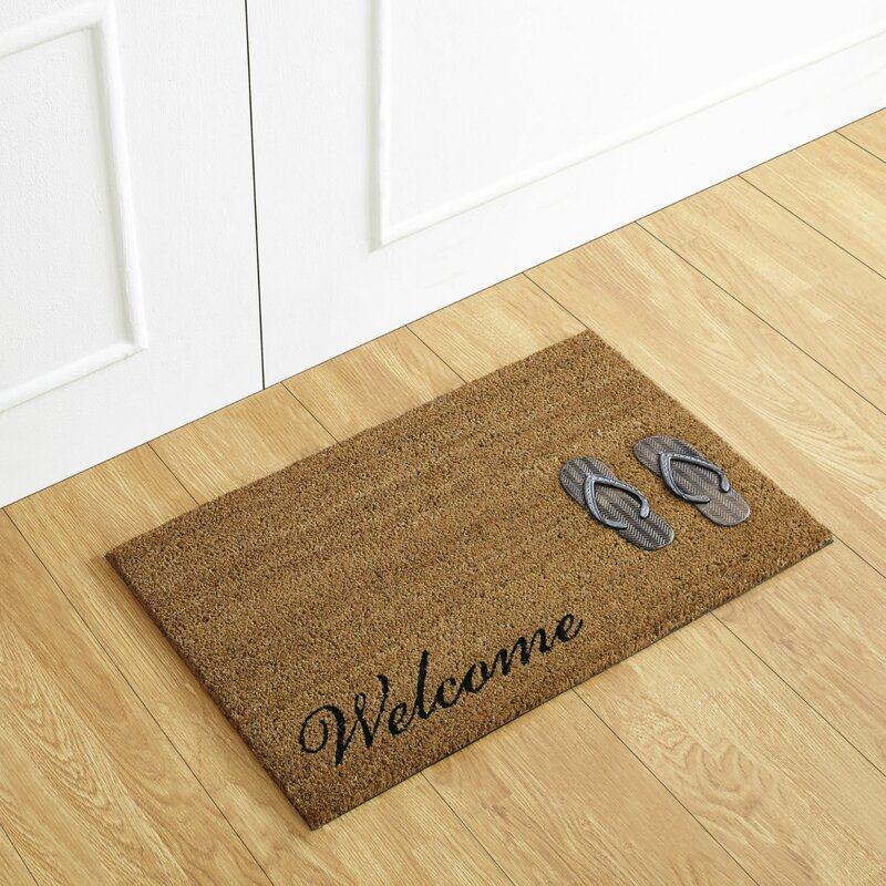 34a6c1d9f Better Trends Flip Flop Welcome Coir Door Mat   Reviews