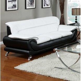 Orren Ellis Alfredo Leather Standard Sofa