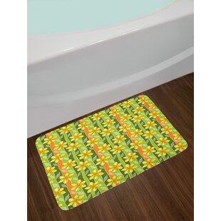 Modern Daffodil Bath Rug