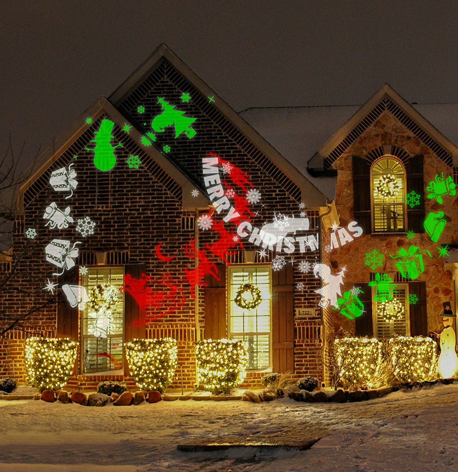 the holiday aisle merry christmas projector light reviews wayfair