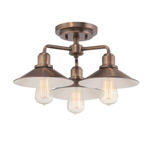 Tenants Harbor 3-Light Semi Flush Mount by Breakwater Bay