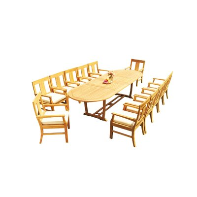 Mas 13 Piece Teak Dining Set by Teak Smith Amazing