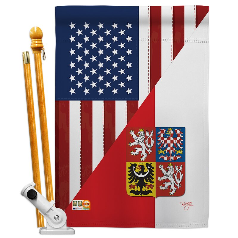 Breeze Decor American Czech Friendship The World Impressions 2 Sided Polyester 40 X 28 In Flag Set Wayfair