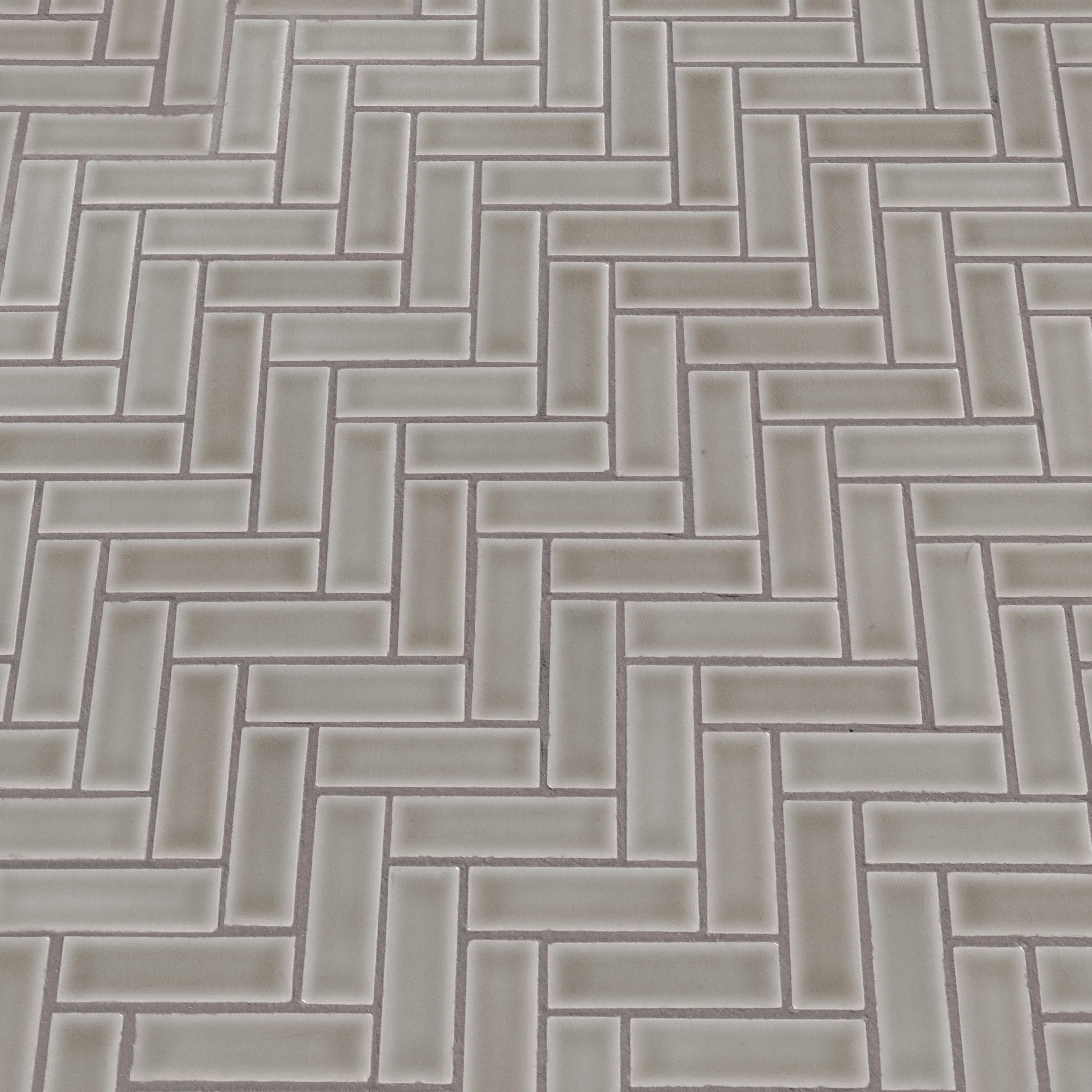 Msi Highland Park Herringbone 1 X 3 Ceramic Mosaic Tile In Dove Gray Wayfair