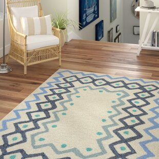 Northfield Ethnic Hand-Tufted Ivory Indoor/Outdoor Area Rug