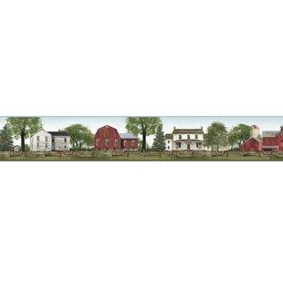 9 L X 15 W Farmhouse Scenic Wallpaper Border