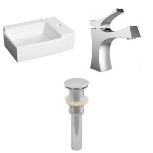 Shop For Ceramic 16.25 Bathroom Sink with Faucet ByRoyal Purple Bath Kitchen