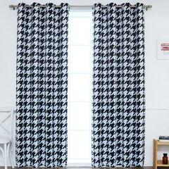 Houndstooth Curtains Wayfair