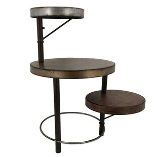 Walsall Metal Framed Tri Level End Table