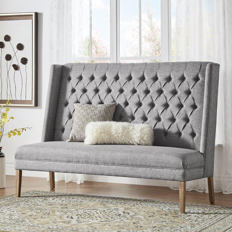 Birch Lane™ Heritage Kaitlin Solid Linen Tufted Upholstered Bedroom ...