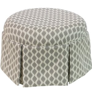 Barnard Round Skirted Ottoman by Rosecliff Heights
