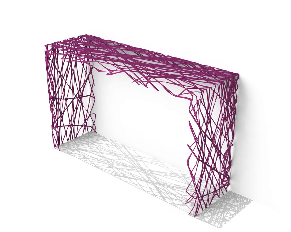 Strand Console Table purple console tables Discover Modern Purple Console Tables Strand Console Table