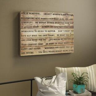 Life Is Beautiful Textual Art On Wood