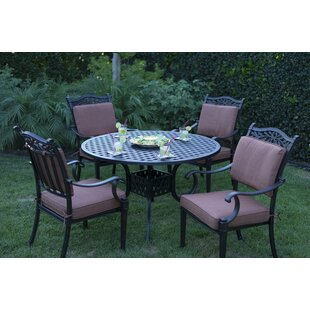 Astoria Grand Fairmont 5 Piece Dining Set with Cushions