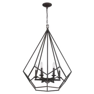 Mathieu 6-Light Geometric Chandelier By Gracie Oaks