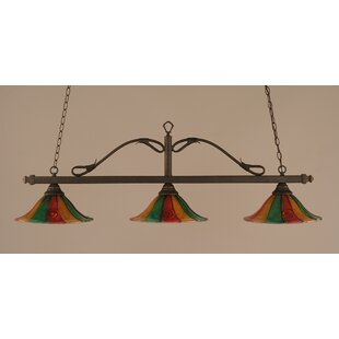 Fleur De Lis Living Reba 3-Light Billiard Light