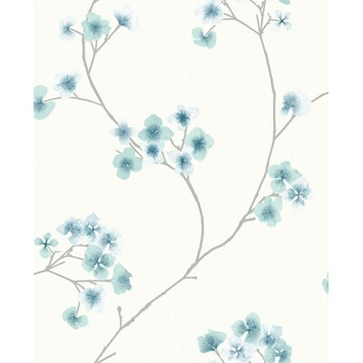 Ophelia & Co. Judith Gap 33' x 20 Radiance Wallpaper Roll Color: Teal/White
