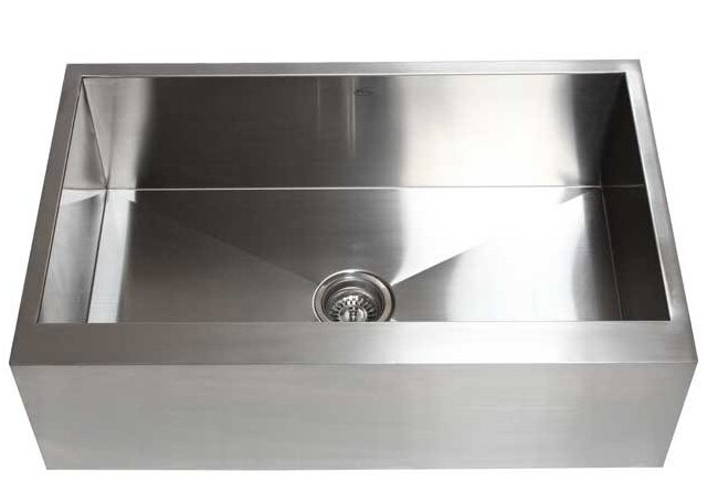 ariel 33   x 21   stainless steel single bowl farmhouse kitchen sink ariel 33   x 21   stainless steel single bowl farmhouse kitchen sink      rh   allmodern com
