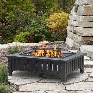 Real Flame Evans Steel Wood Burning Fire Pit table