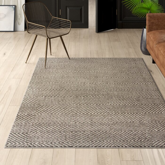 Marcelo Flat Woven Wool Cotton Gray Area Rug