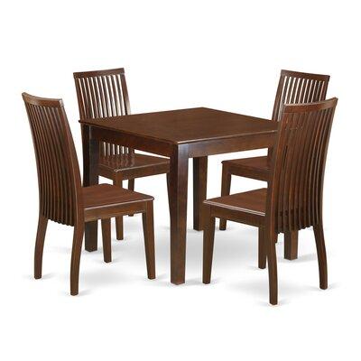 Cobleskill5 Piece Breakfast Nook Solid Wood Dining Set Alcott Hill Color: Mahogany