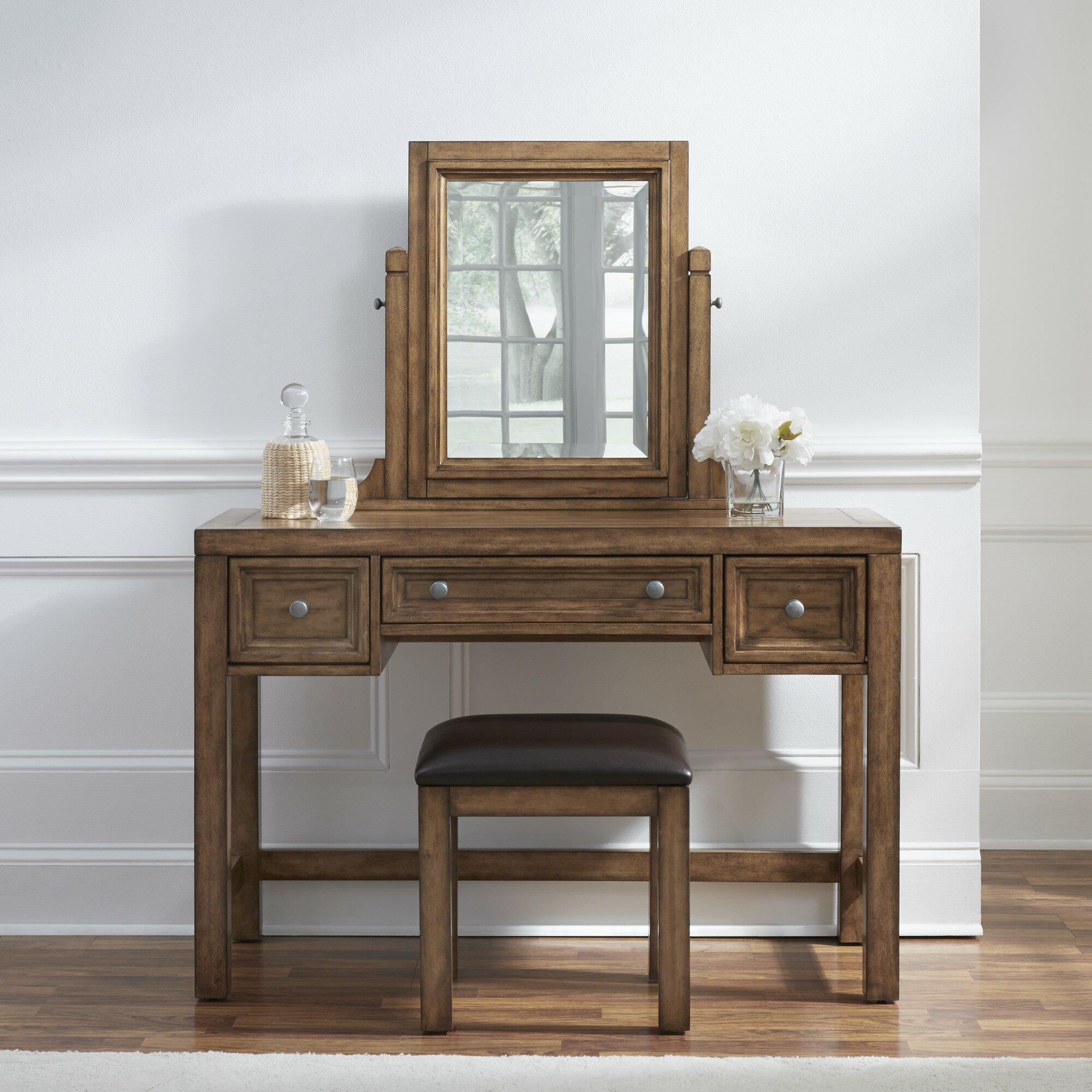 Mistana Lebron Vanity Set With Mirror Reviews Wayfair Ca