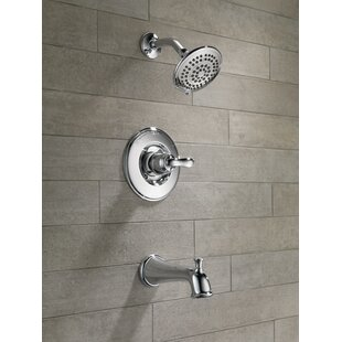 Compare Linden™ Diverter Tub and Shower Faucet with Monitor By Delta