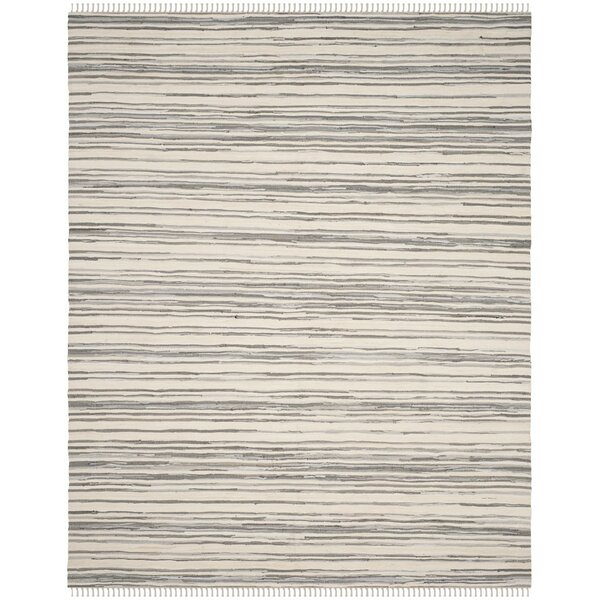 Wrought Studio Shatzer Hand Woven Ivory/Gray Area Rug & Reviews by Wrought Studio