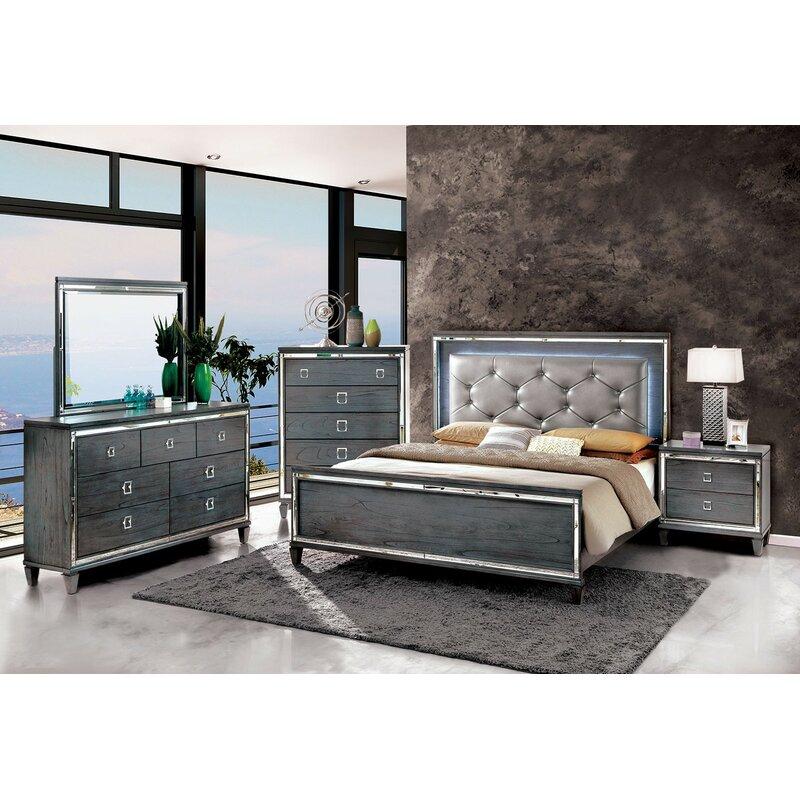 Mercer41 Tidore Cal King Standard Configurable Bedroom Set Wayfair