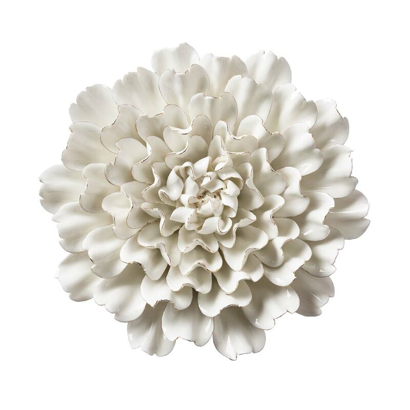 Bungalow Rose Ceramic Flowers Wall