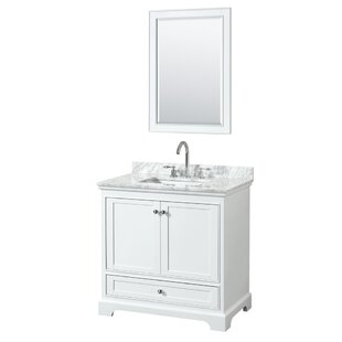 Find Deborah 35 Single Bathroom Vanity Set with Mirror By Wyndham Collection