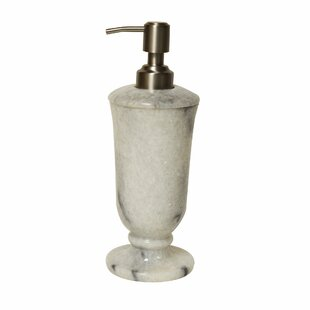 Darby Home Co Polished Marble Chipman Cloud Lotion Dispenser