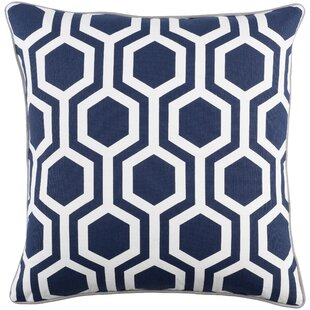 Antonia Square Woven Cotton Throw Pillow