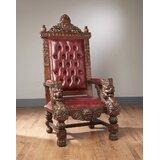 Fahy Lion Head Throne Armchair by Astoria Grand