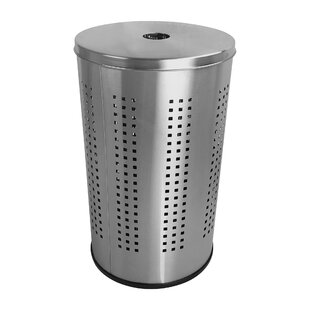 Brayden Studio Industrial Ventilated Stainless Steel Laundry Hamper and Clothes Basket