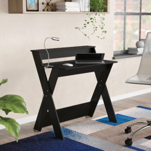 Office study desk Industrial Study Herberts Crisscrossed Home Office Study Writing Desk Smart Pvc Furniture Kids Study Desk Wayfair