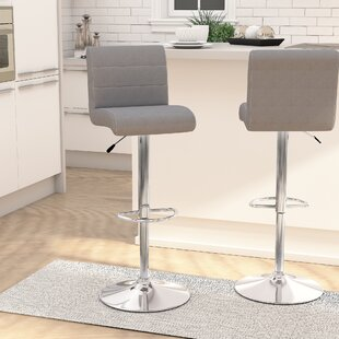 Buy luxury Nusbaum Adjustable Height Swivel Bar Stool (Set of 2) by Orren Ellis Reviews (2019) & Buyer's Guide