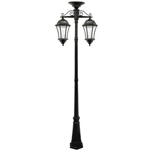 Solar powered post lights youll love wayfair victorian solar lamp 2 downward hanging 13 light led 90 post light aloadofball Image collections