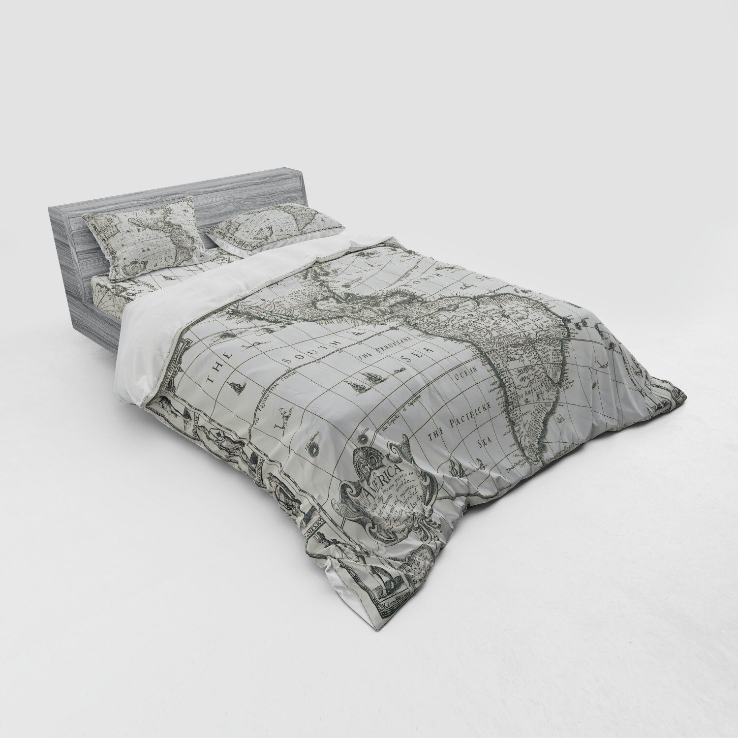 World Map Duvet Cover Set