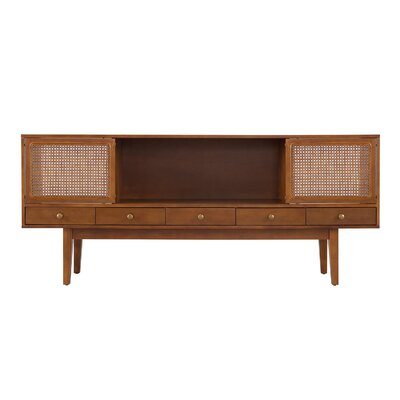 George Oliver Dwight TV Stand for TVs up to 70 Color: Dark Tobacco