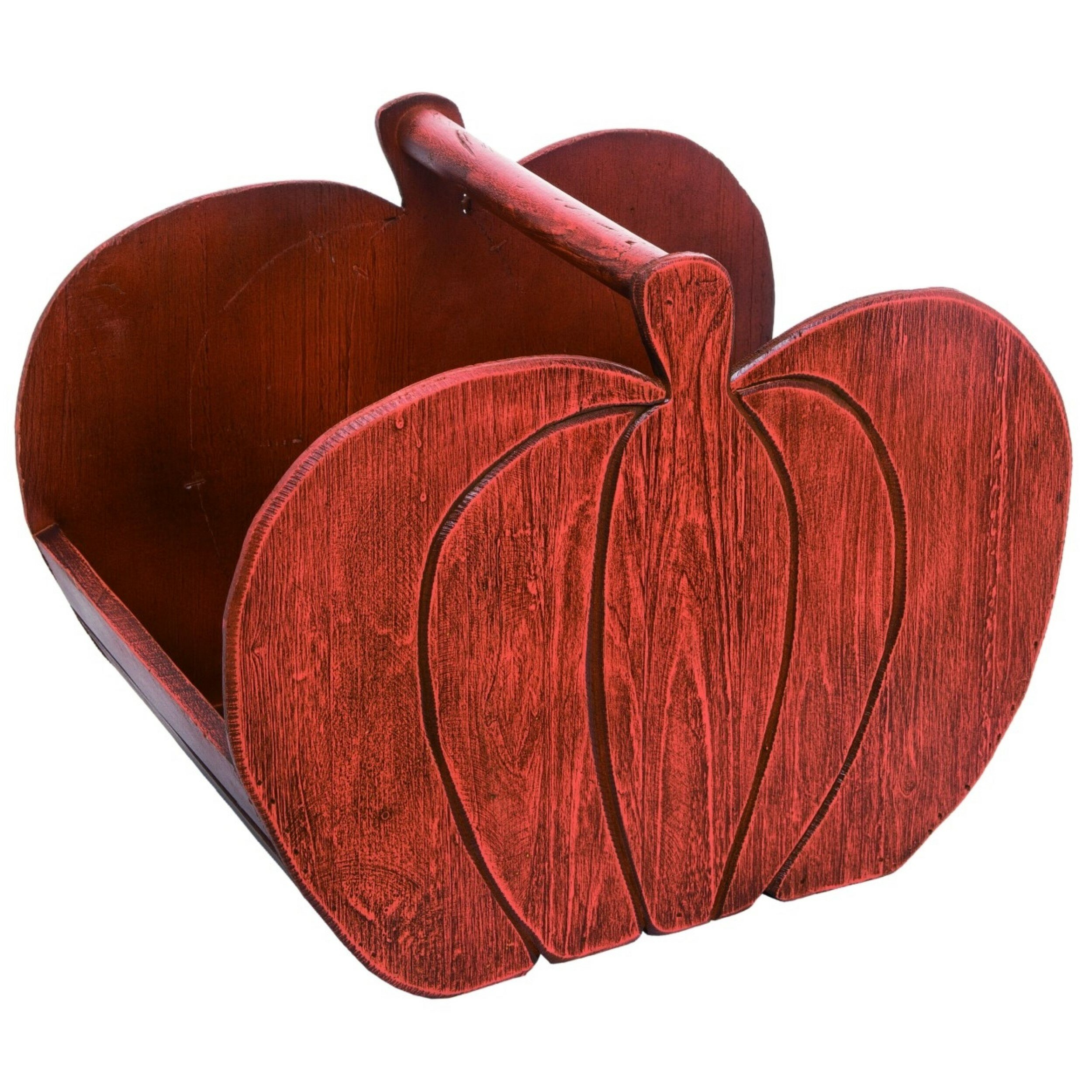 August Grove Harvest Pumpkin 2 Piece Solid Wood Basket Set Wayfair