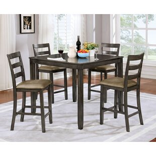 Jaiden Wooden 5 Piece Counter Height Dining Table Set