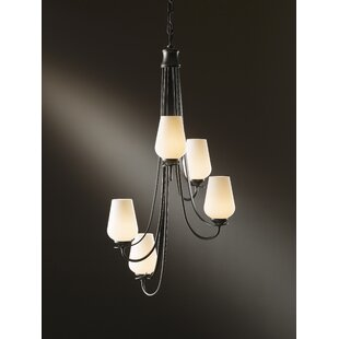 Hubbardton Forge Flora 5-Light Shaded Chandelier