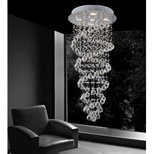 Double Spiral 5-Light Flush Mount by CWI Lighting