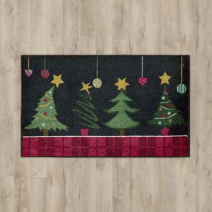 Trees Black Area Rug By The Holiday Aisle