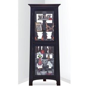 Westview Lighted Corner Curio Cabinet