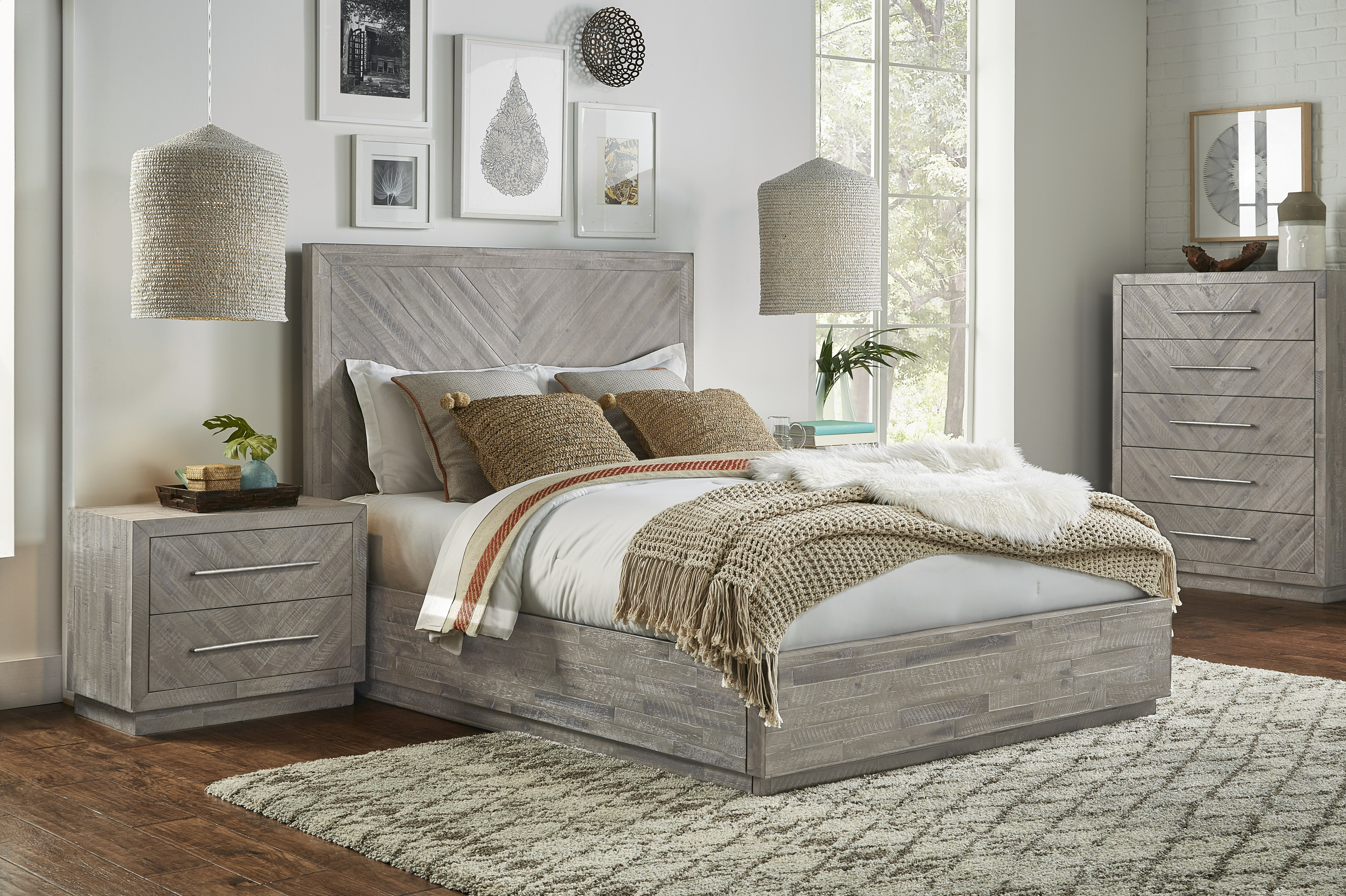 Union Rustic Robards Platform Solid Wood Configurable Bedroom Set
