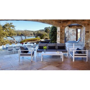 Ebern Designs Bemelle 5 Piece Sunbrella Seating Group with Cushions