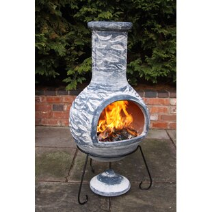 Olas Clay Wood Burning Chiminea By Gardeco
